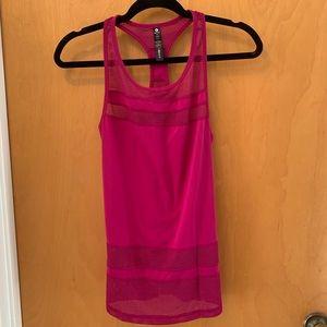 90 Degree by a reflex pink mesh workout tank